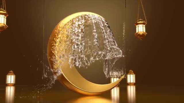 Ramadan Water Splash: Stock Motion Graphics