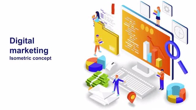 Digital Marketing - Isometric Concept: After Effects Templates