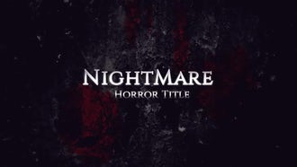 Horror Title: After Effects Templates