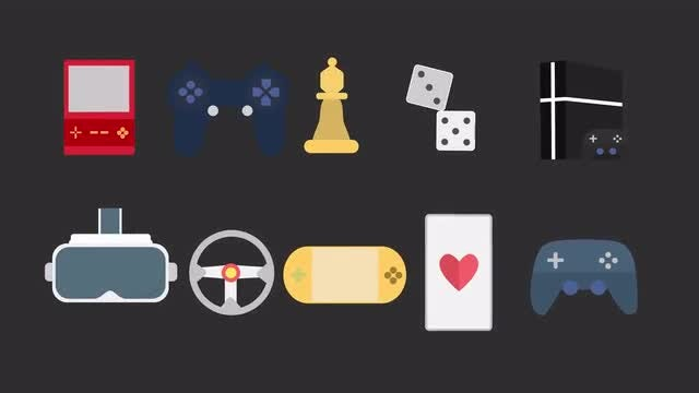 Gaming Icons Pack: Stock Motion Graphics