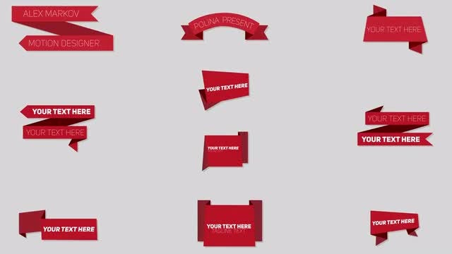 Origami Lower Thirds: After Effects Templates