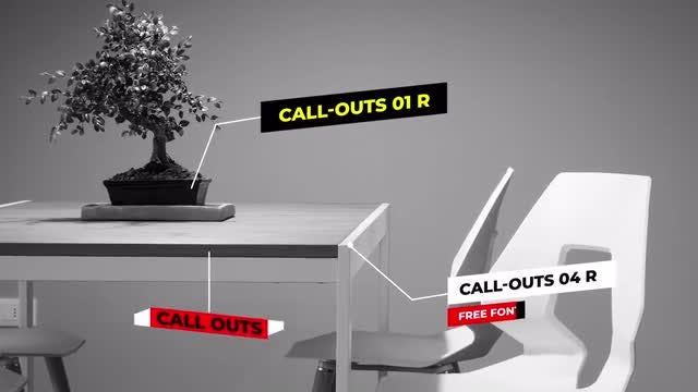 Call Outs Auto Scale: After Effects Templates