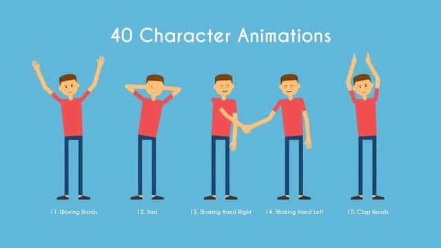 Character Animations MOGRT: Motion Graphics Templates