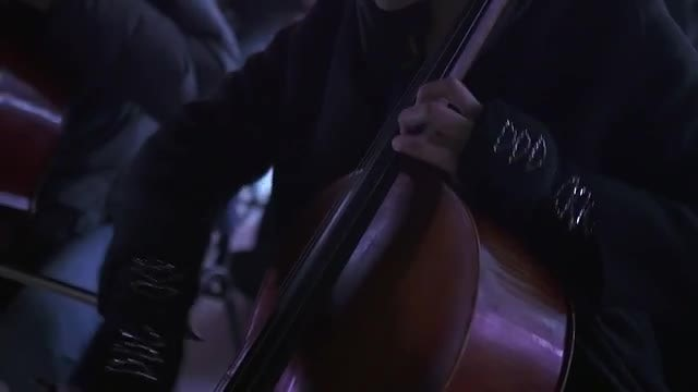 Playing The Violoncello: Stock Video