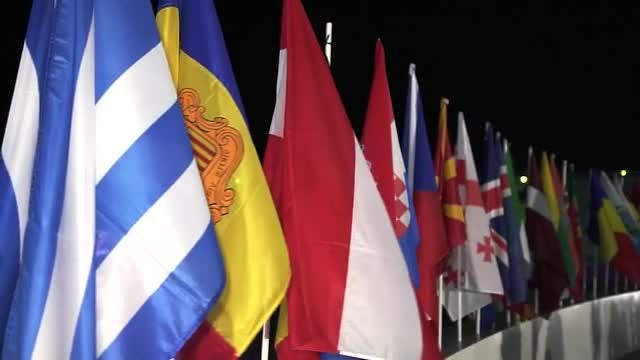 European Flags: Stock Video