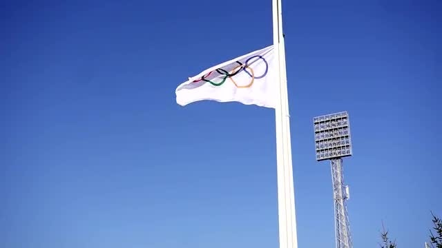 Olympic Flag: Stock Video