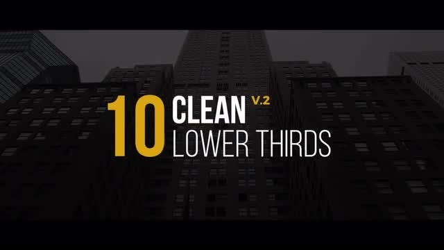 Clean Lower Thirds: Premiere Pro Templates