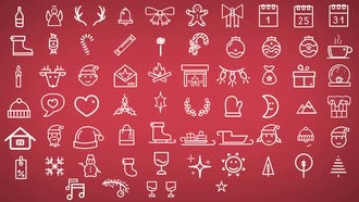 Minimal Christmas Icons: Motion Graphics