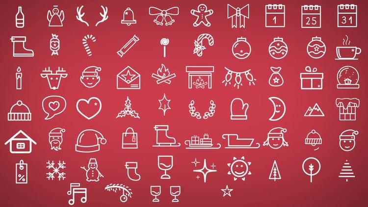Minimal Christmas Icons: Motion Graphics