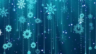 Snowflakes Background Loop: Motion Graphics