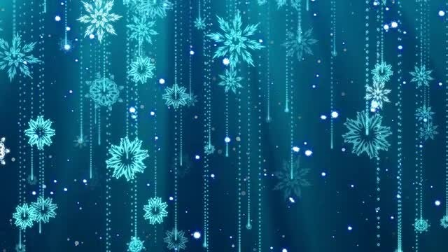Snowflakes Background Loop: Stock Motion Graphics