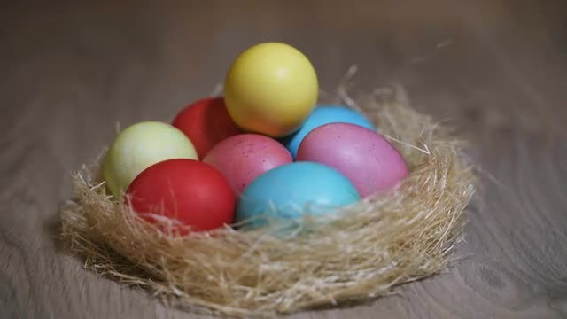 Colorful Easter Eggs: Stock Video