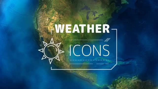 Weather Forecast Icons Pack: Stock Motion Graphics