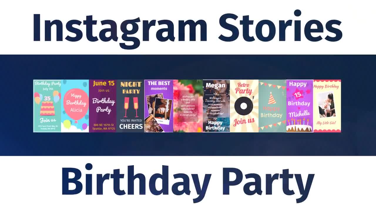 Instagram Birthday Party Stories V006