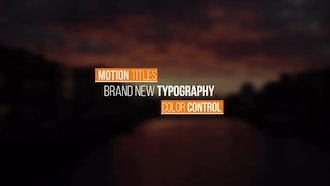Modern Titles V2: After Effects Templates
