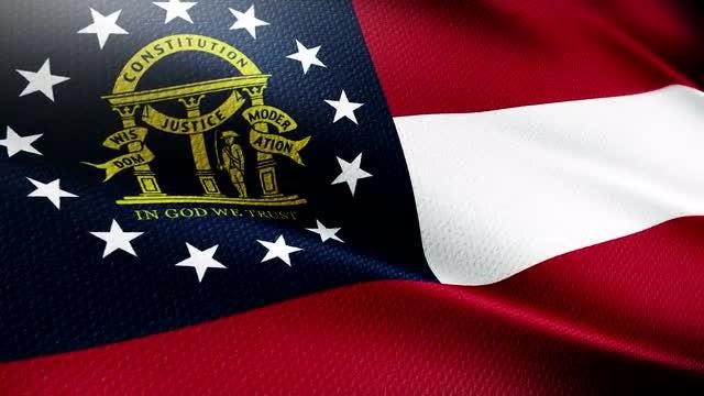 Georgia State Flag: Stock Motion Graphics