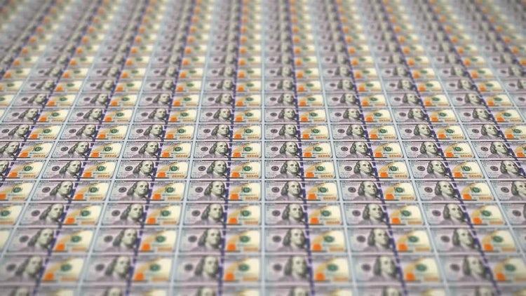 100 Dollar Bills Loop v1: Motion Graphics