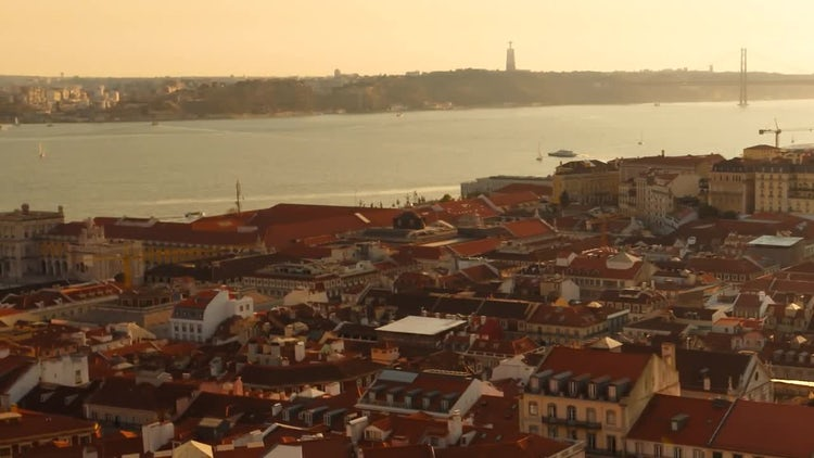 Old Town Lisbon: Stock Video