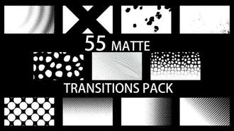 55 Matte Transitions Pack: Motion Graphics