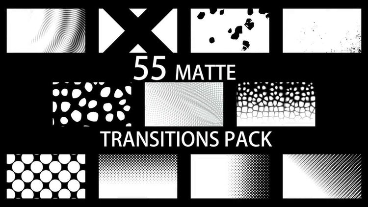 55 Matte Transitions Pack: Stock Motion Graphics
