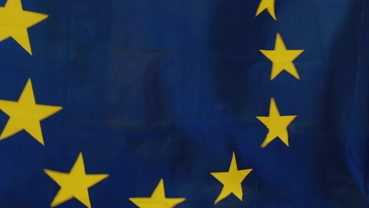 EU Flag: Stock Video