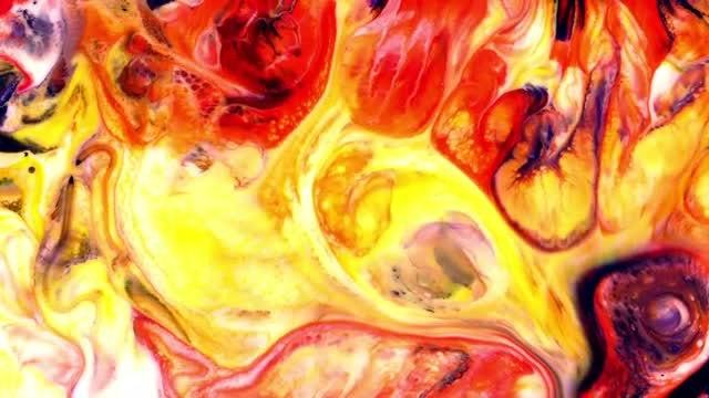 Fiery Paint: Stock Video