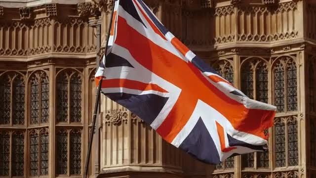 UK Flag In Westminster: Stock Video