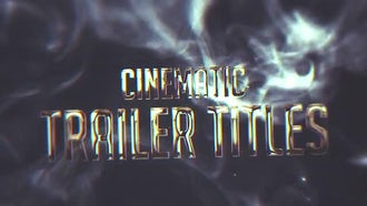 Cinematic Trailer Intro: After Effects Templates