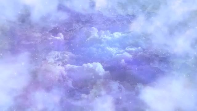 Snowfall In The Clouds: Stock Motion Graphics
