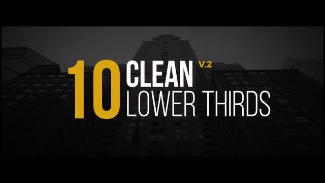 Clean Lower Thirds v.2: Motion Graphics Templates