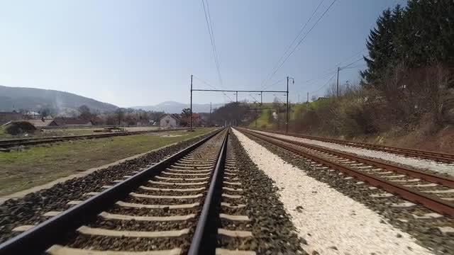Train Tracks: Stock Video