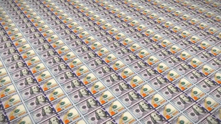 100 Dollar Bills Loop v3 : Motion Graphics