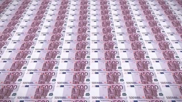Euro Bills Loop v1 : Stock Motion Graphics