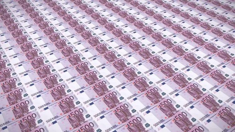 Euro Bills Loop v3: Stock Motion Graphics