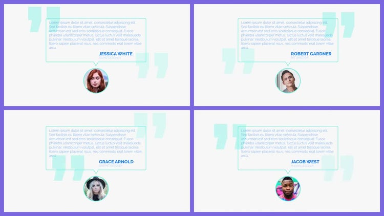 Opener Testimonials: After Effects Templates