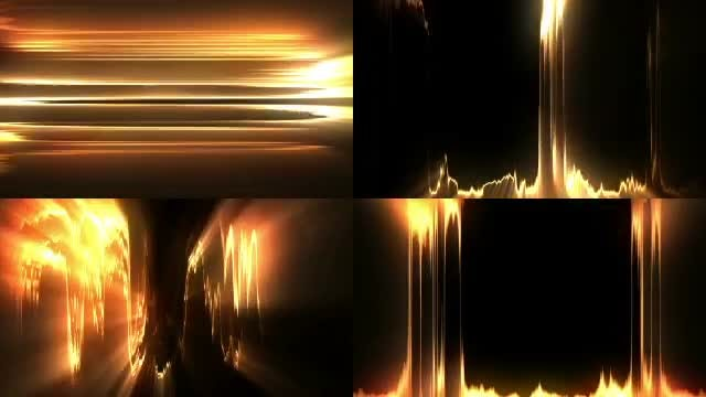 Abstract Golden Light Package: Stock Motion Graphics