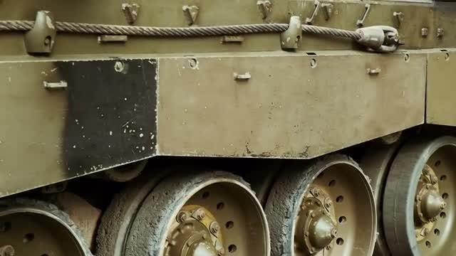 Close-Up Of A War Tank: Stock Video