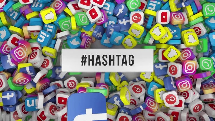 Social Media Hashtag Opener: After Effects Templates