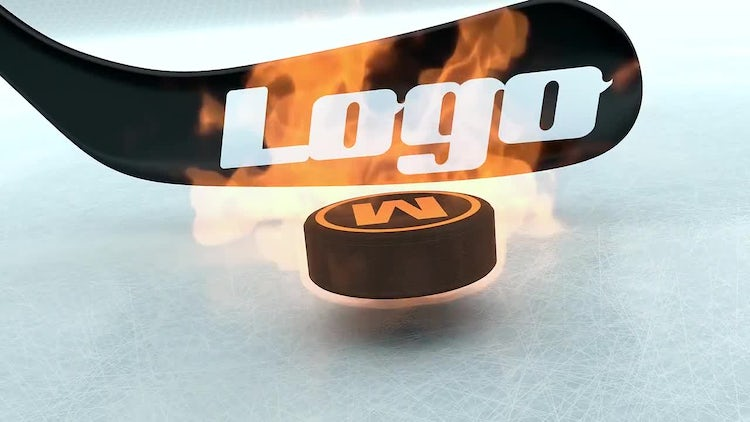 Hockey Stick & Puck Sports Logo: After Effects Templates