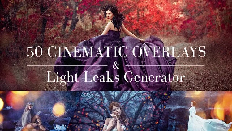 50 Cinematic Overlays & Light Leaks Generator: Motion Graphics
