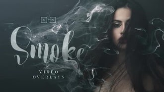 20 Smoke Video Overlays: Stock Video