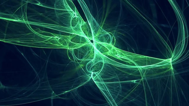 Green Fractal Swirl: Stock Motion Graphics