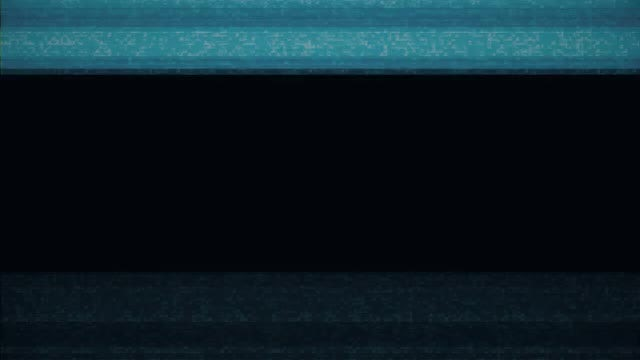Blue Blocks VHS Damage Overlay: Stock Motion Graphics