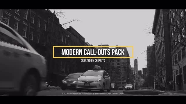 Modern Call-Outs Pack: Premiere Pro Templates