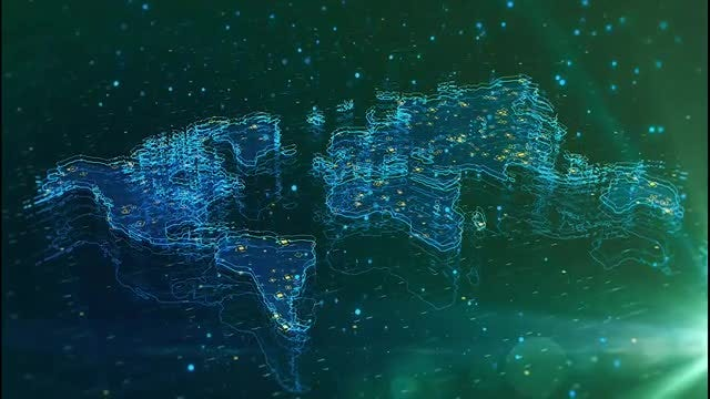 Tech Global Map Connection: Stock Motion Graphics