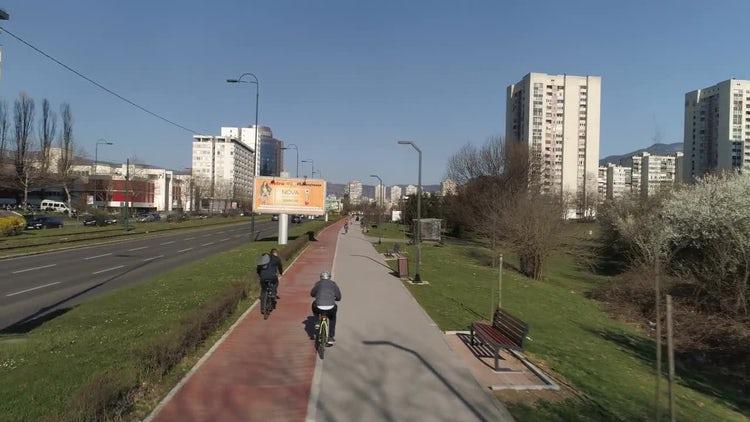 Men Cycling: Stock Video