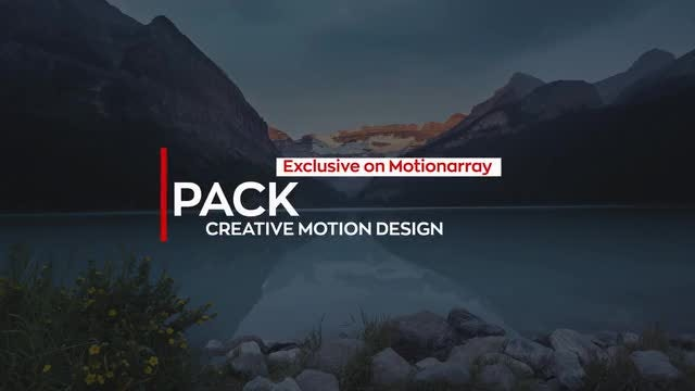New Modern 4K Titles: After Effects Templates
