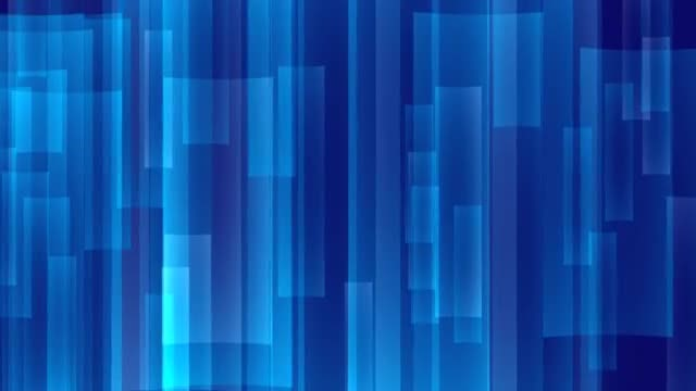 Rectangular Blue Lights 4K: Stock Motion Graphics