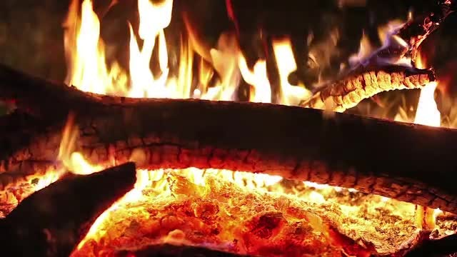 Pile Of Firewood Burning: Stock Video