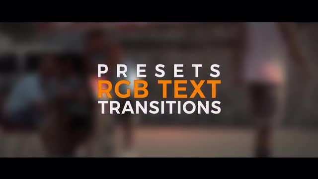 RGB Text Transitions: After Effects Presets